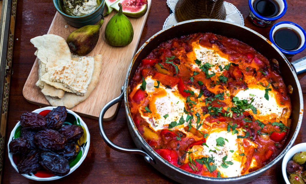 delicious Moroccan peppers and egg recipe